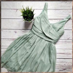 J. CREW Heidi Silk Chiffon Dress in Dusty Shale 4 for sale